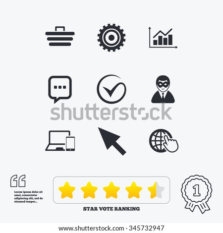 internet  seo icons tick
