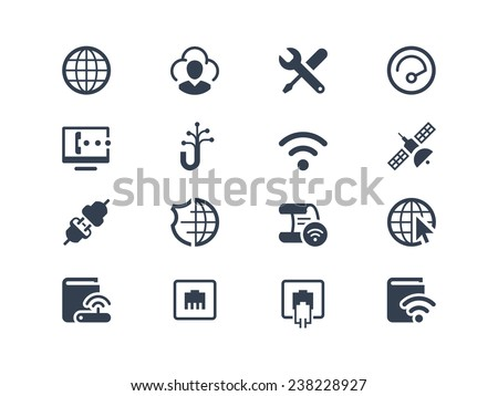 Internet service and internet provider icons