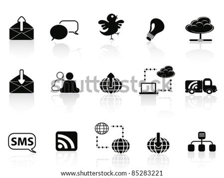 Internet social communications icon set