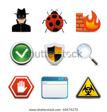 internet software security icons