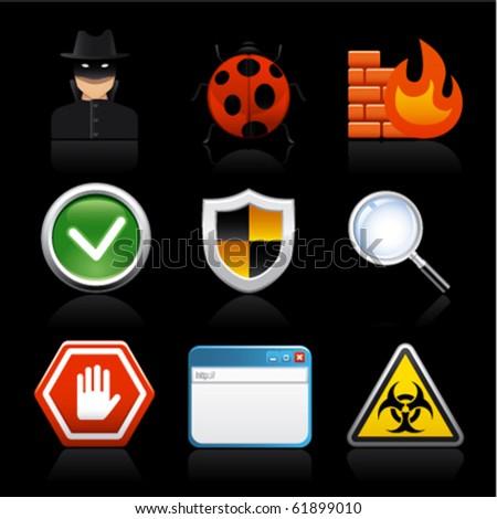 internet software security on black