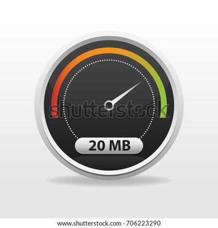 Internet Speed limit meter elements for website