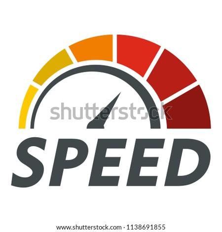 Internet speed test logo. Flat illustration of internet speed test vector logo for web design