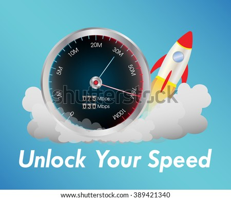 internet speed test meter with