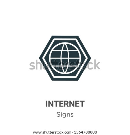 Internet symbol vector icon on white background. Flat vector internet symbol icon symbol sign from modern signs collection for mobile concept and web apps design.