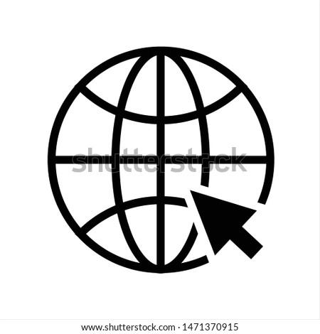 Internet symbol.Website icon.Go to web icon vector