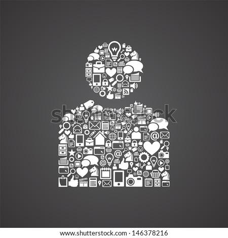 internet user icons