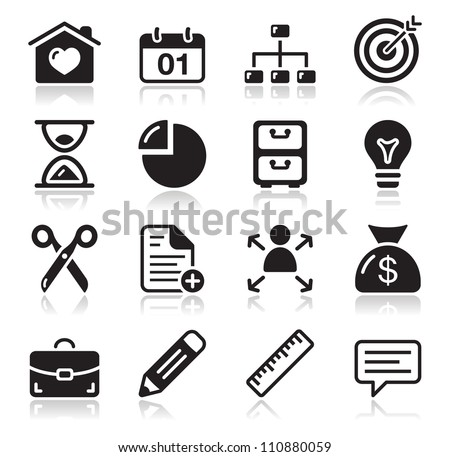 Internet web icons set - stock vector