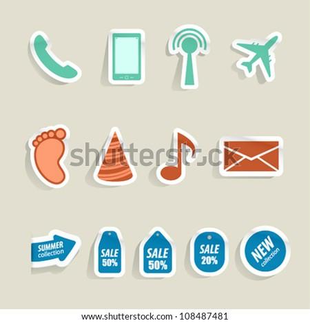 Internet web icons. Vector illustration.