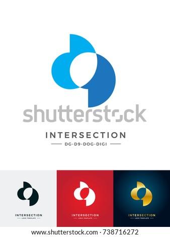 intersect logo  letter dog   dg