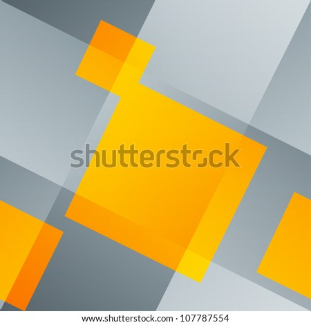 Intersecting lines and orange squares. Abstract seamless background, vector, EPS10.