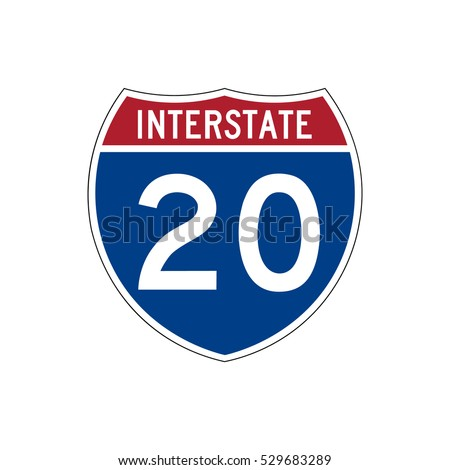 Interstate highway 20 road sign