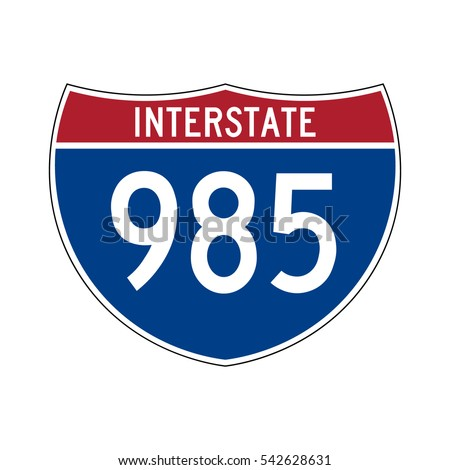 Interstate highway 985 road sign