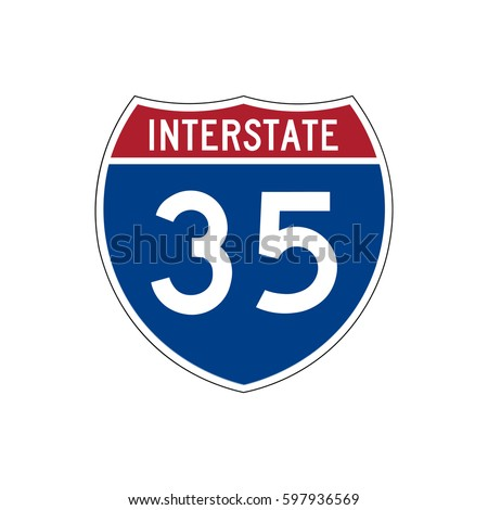 Interstate highway 35 road sign