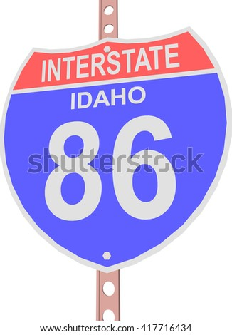 Interstate highway 86 road sign in Idaho