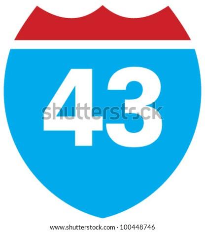 interstate 43 highway sign