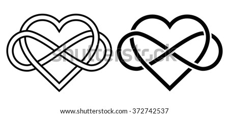 intertwined heart with the sign