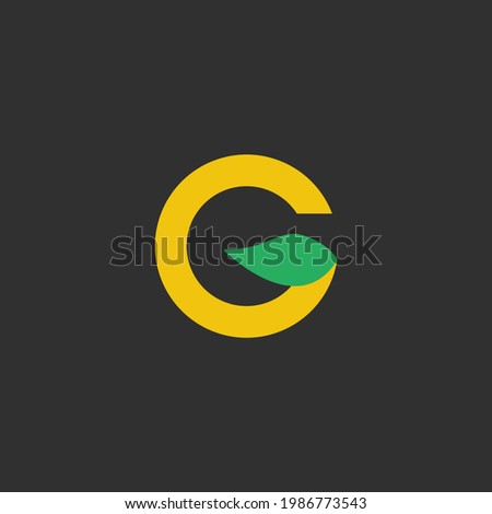 Intial G Tea With Golden Color Very Simple And Elegant Logo Photo stock ©
