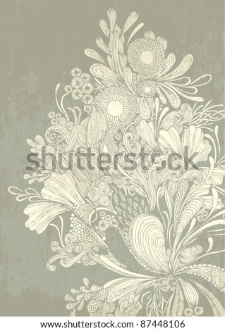 intricate flower motif vector/illustration