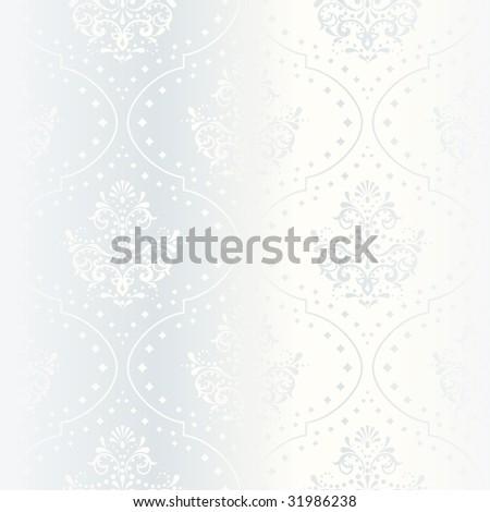 stock vector Intricate white satin wedding pattern vector a JPG version