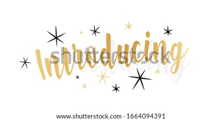 introducing calligraphy on white banner Stock photo ©