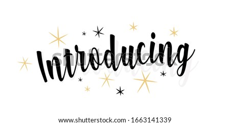 introducing calligraphy text on white banner Stock photo ©