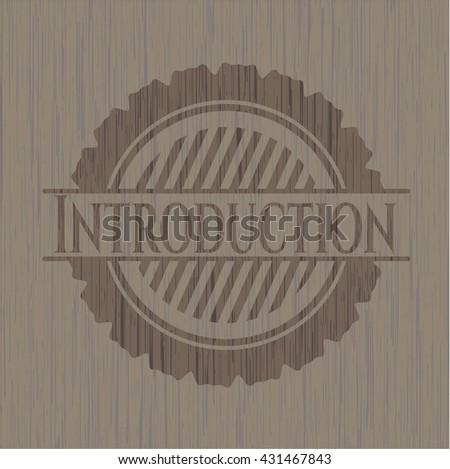 Introduction wood emblem. Retro