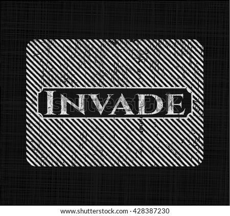 invade chalkboard emblem on