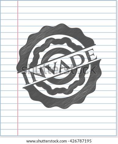 invade pencil strokes emblem