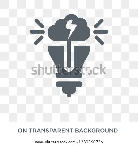 invention icon. Trendy flat vector invention icon on transparent background from General collection.
