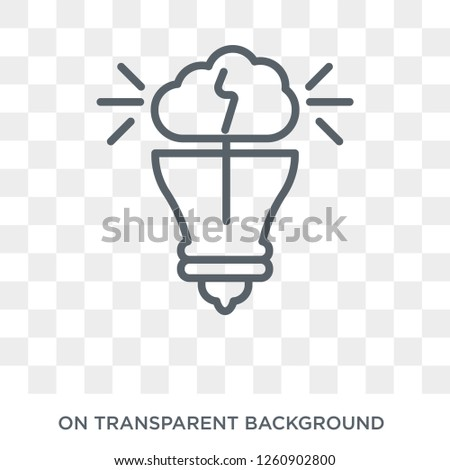 invention icon. Trendy flat vector invention icon on transparent background from General collection. High quality filled invention symbol use for web and mobile
