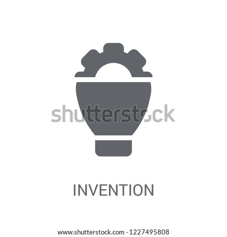 invention icon. Trendy invention logo concept on white background from General collection. Suitable for use on web apps, mobile apps and print media.