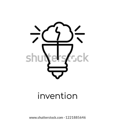 invention icon. Trendy modern flat linear vector invention icon on white background from thin line General collection, editable outline stroke vector illustration