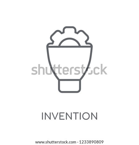 invention linear icon. Modern outline invention logo concept on white background from General collection. Suitable for use on web apps, mobile apps and print media.