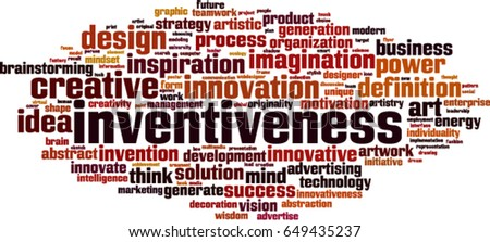inventiveness word cloud...