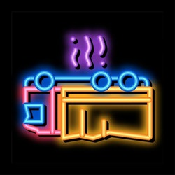 inverted car accident neon light sign vector. Glowing bright icon inverted car accident sign. transparent symbol illustration