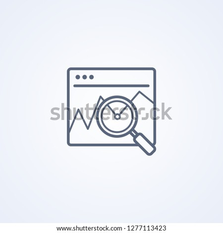 Investigation of the financial market, financial analysis, business concept, vector best gray line icon on white background, EPS 10