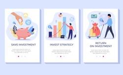 Investing Plans concept illustration set, perfect for banner, mobile app, landing page