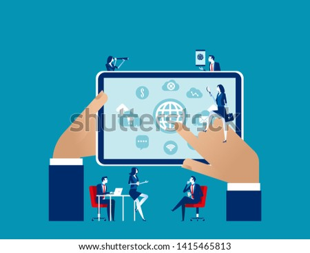 Investment analysis and selection. Concept business vector illustration, Global analysis, Investment technology.