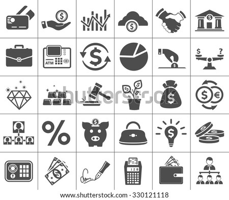 Shutterstock Investment, banking, money and finance icon