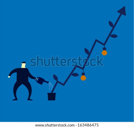 investment concept - stock vector