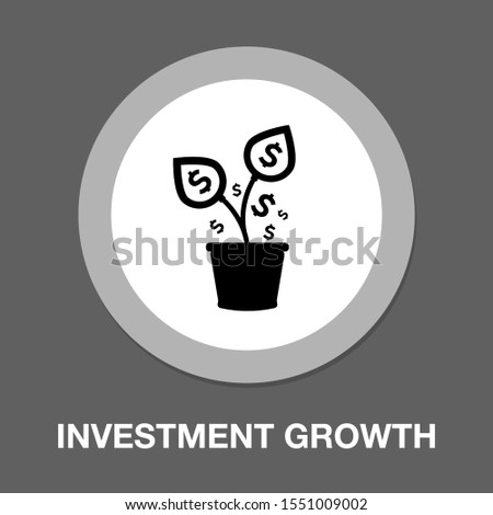 investment growth. Investment logo template vector money grow icon design