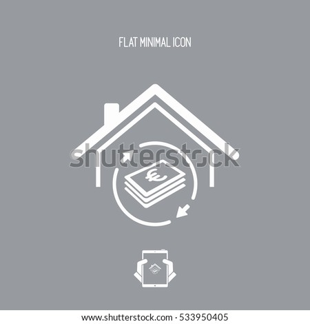 Investment property - Real estate - Vector web icon