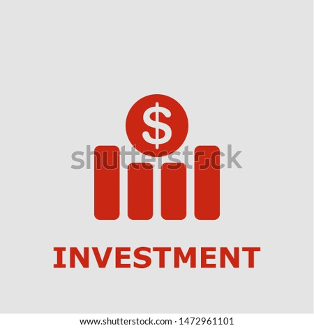 Investment symbol. Outline investment icon. Investment vector illustration for graphic art.