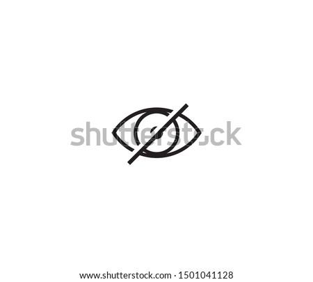 invisible icon vector design