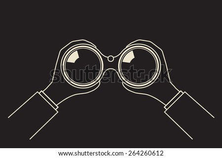 invisible observer looking through night vision  binoculars