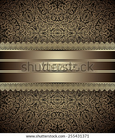 invitation card baroque golden