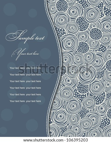 Invitation Card blue with circles