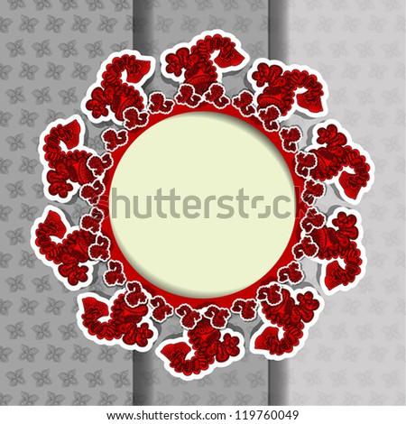 Invitation card, floral design