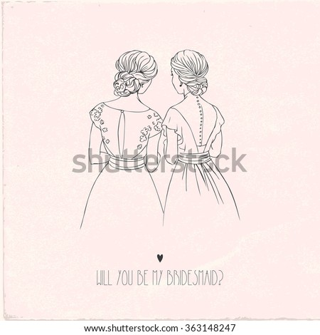 invitation card for bridesmaid